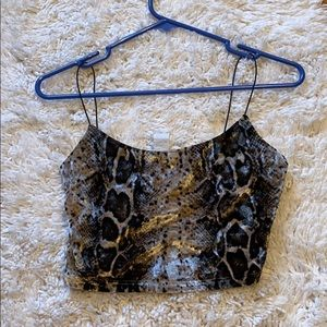 velvet cheetah print tank top